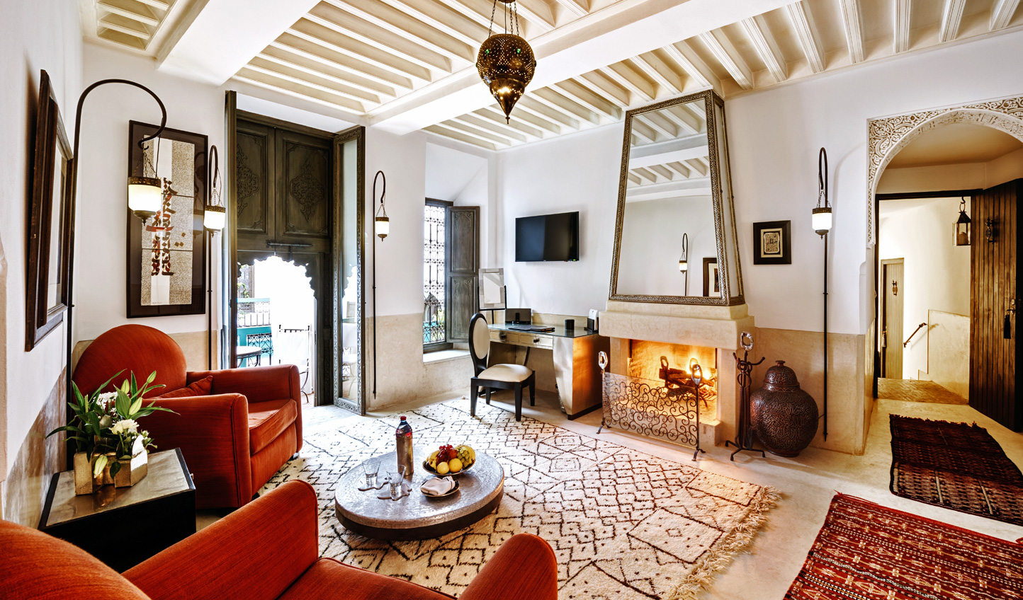 Discover elegant suites reminiscent of traditional riads