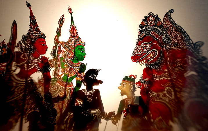 wayang kulit, shadow puppets from the state of kelantan