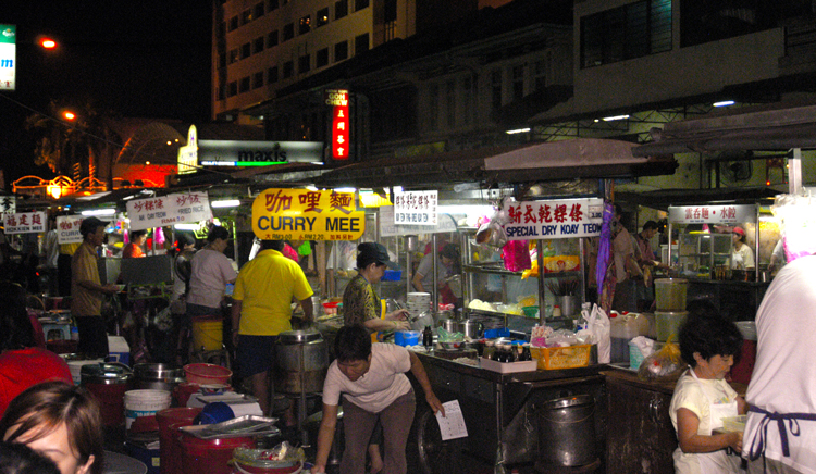 the hawker centre of penang serving food until late