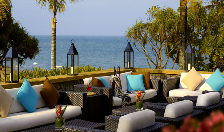 Relax on the terrace at Tanjong Jara