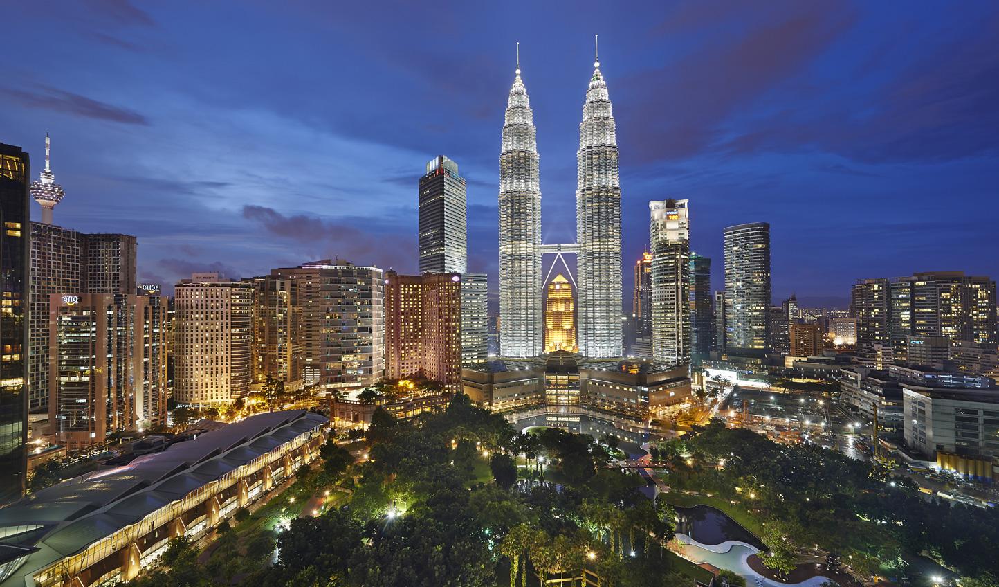 Admire iconic views from the Mandarin Oriental Kuala Lumpur