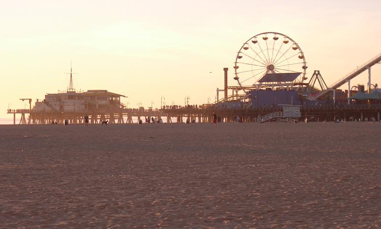 Santa Monica shore, California