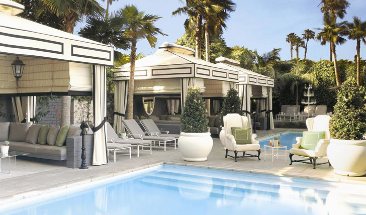 Pool and cabanas at the Viceroy