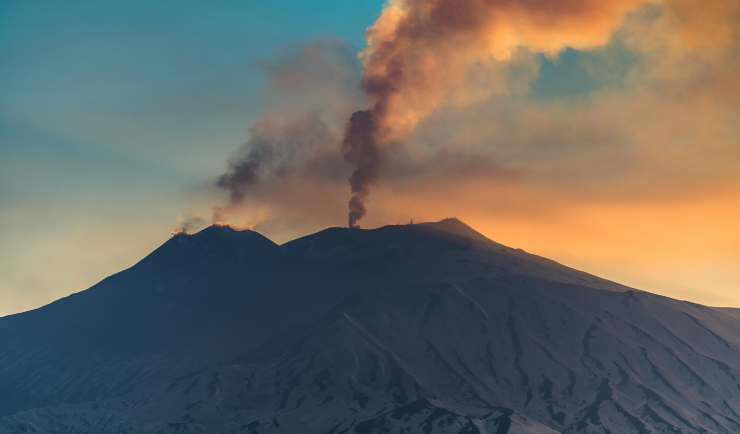 Mount Etna at sunset