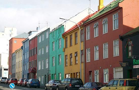 a street view of reykjavik