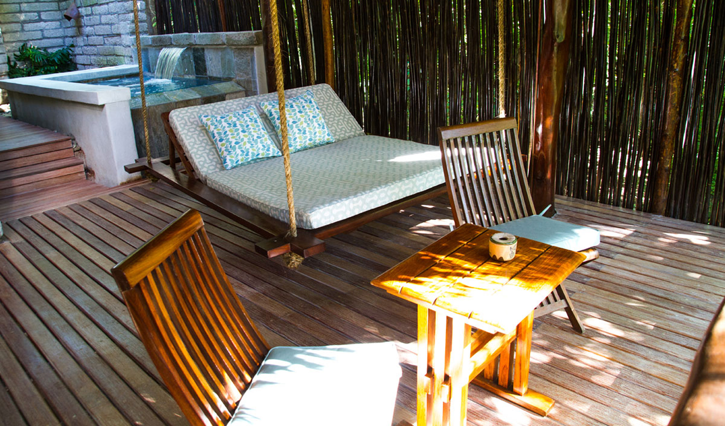 Relax on your private terrace at the end of each day