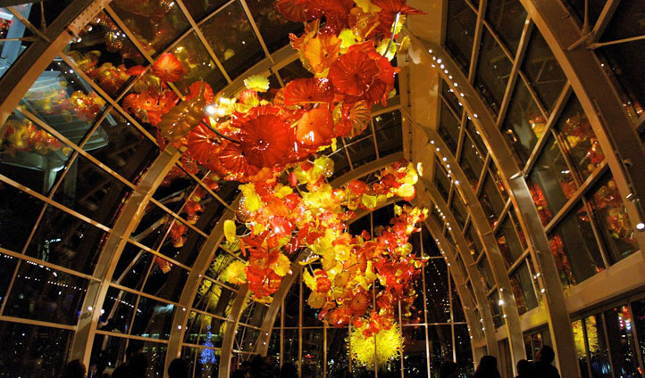 The glass-art of Chihuly in Seattle