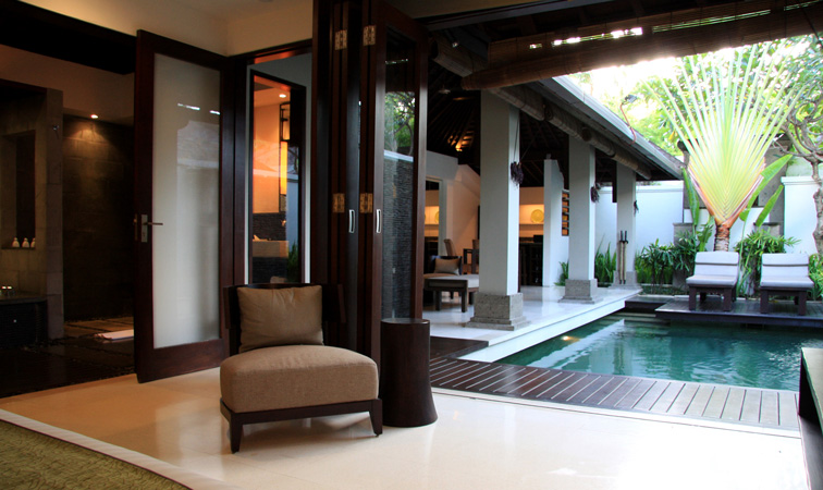 enjoy the comforts of your own pool villa