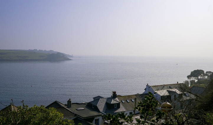 The view across Falmouth Bay