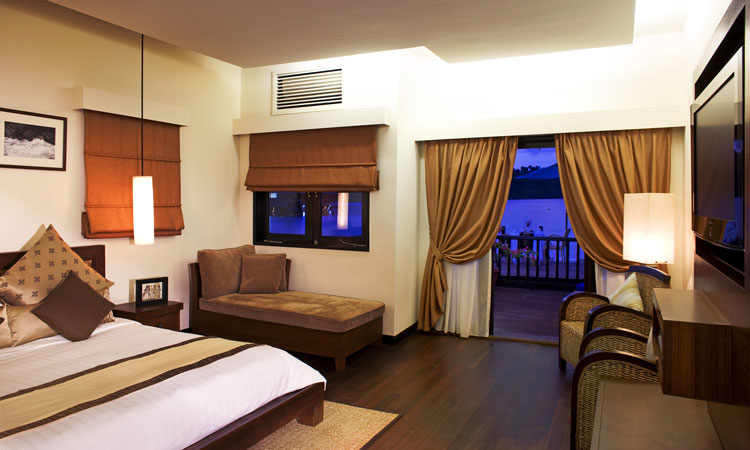 Bedrooms at Gayana Eco Resort