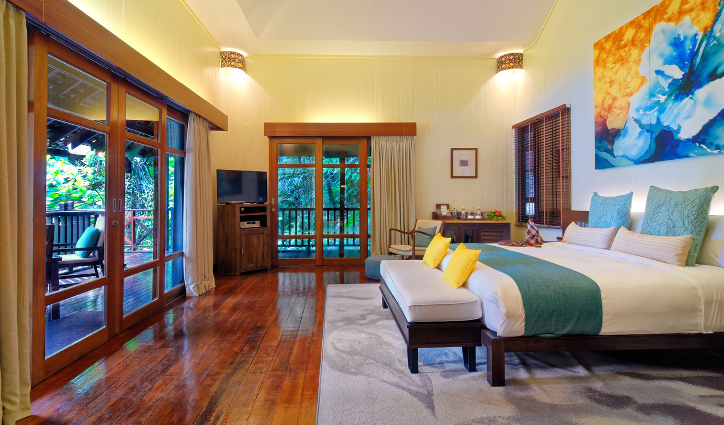 Sweeping views of the jungle from the rooms