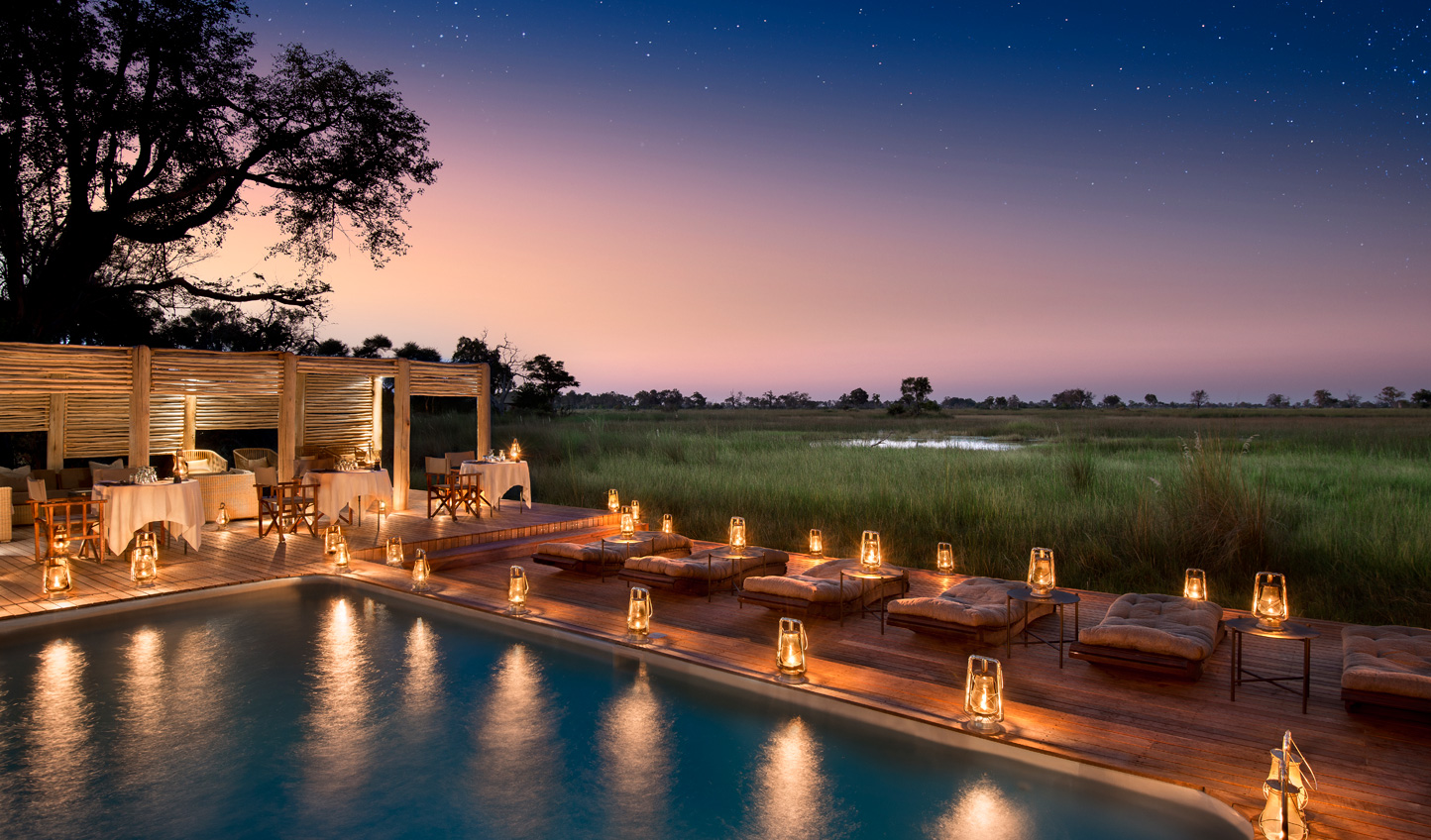 Romantic dinners make this an ideal hotel for a honeymoon