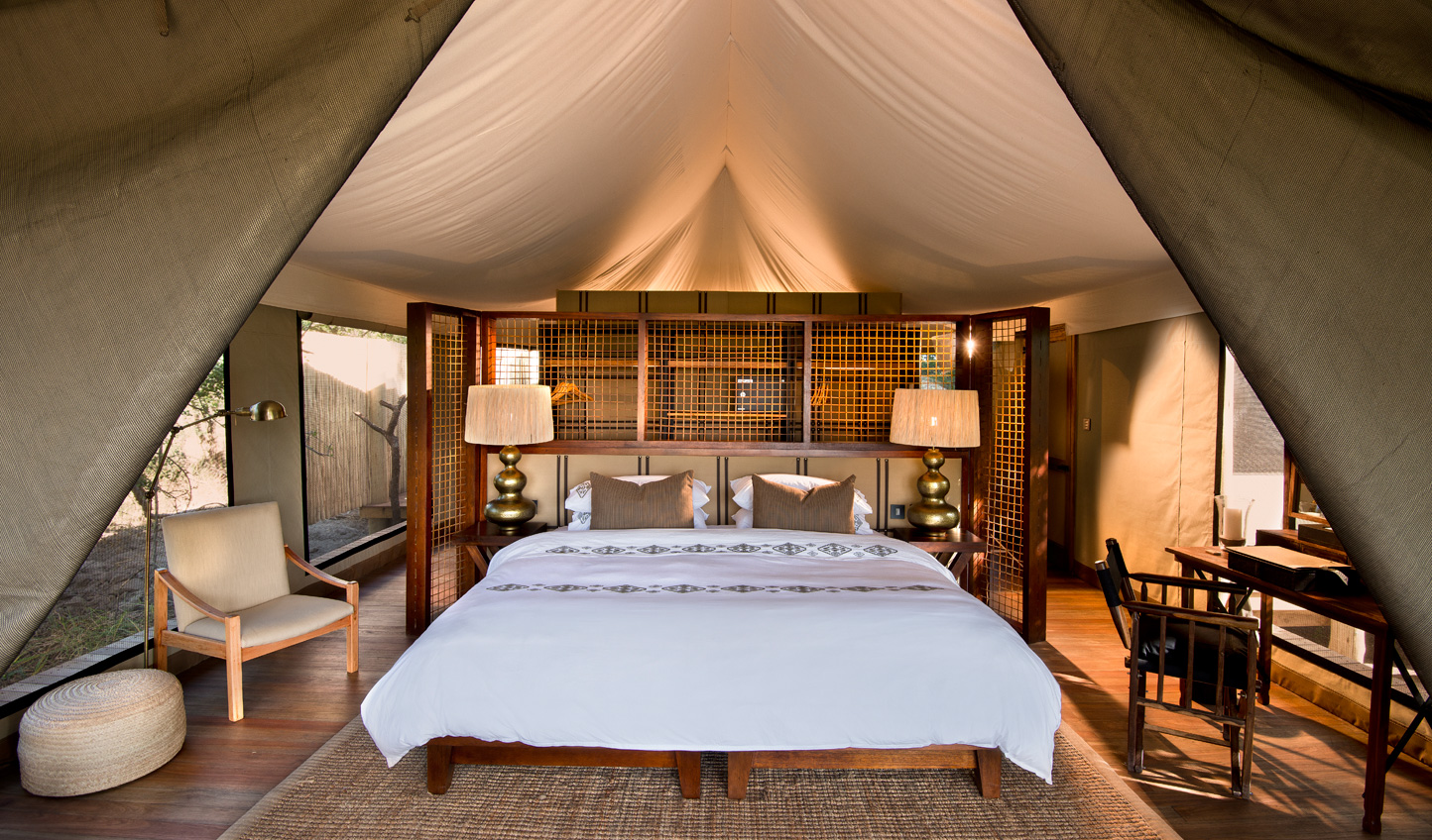 Sleep soundly in your luxury canvas tent