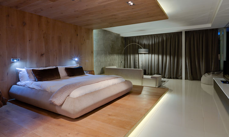 the sleek bedrooms