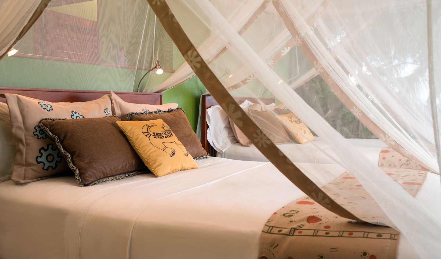 Fall into a peaceful slumber in your canopy bed