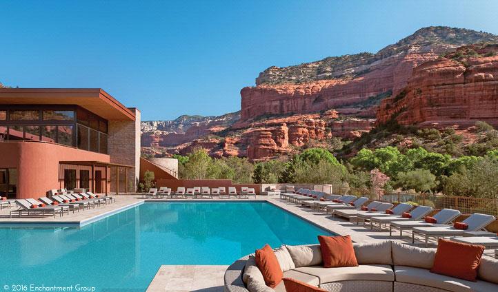 Enjoy panoramic pool views
