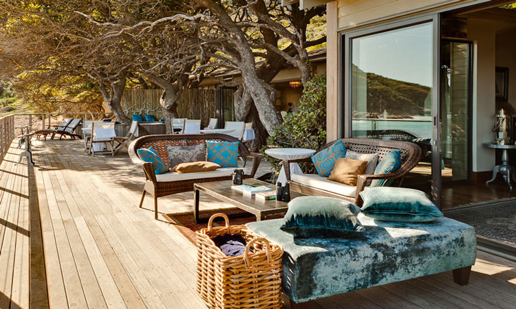 Spend your days lounging on the deck