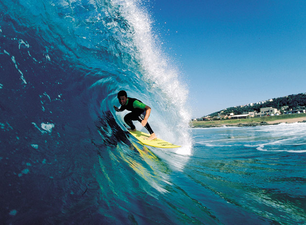 surfer in South Africa