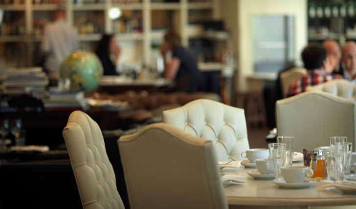 Luxury hotel dining at the Lydmar Hotel, Stockholm, Sweden