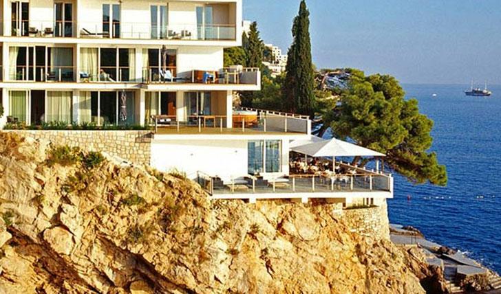 The cliffs of Villa Dubrovnik