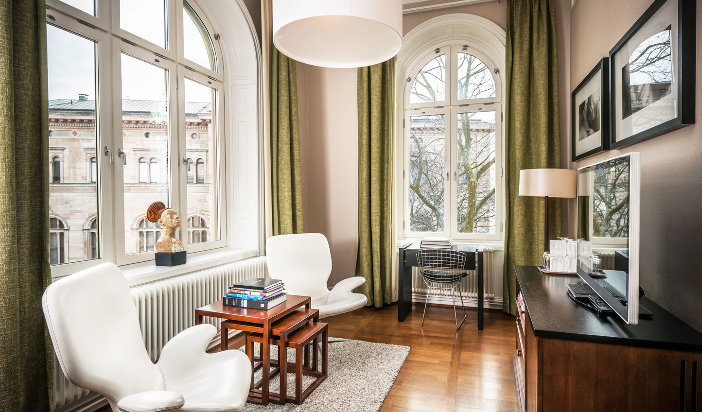 Large windows for admiring the views of Stockholm