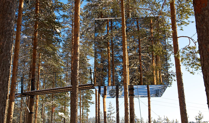 Stay deep in the wilderness in the Tree Hotel