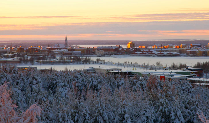 Take a stroll through the streets of Lulea