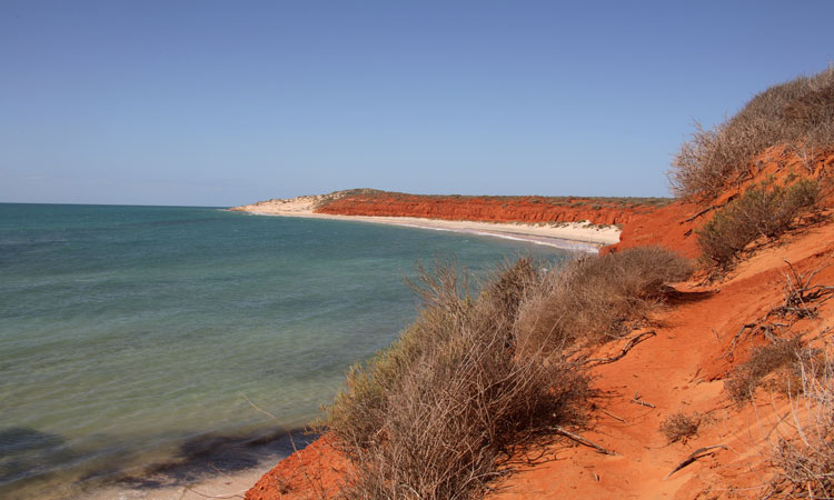 The red sands of Cape Peron
