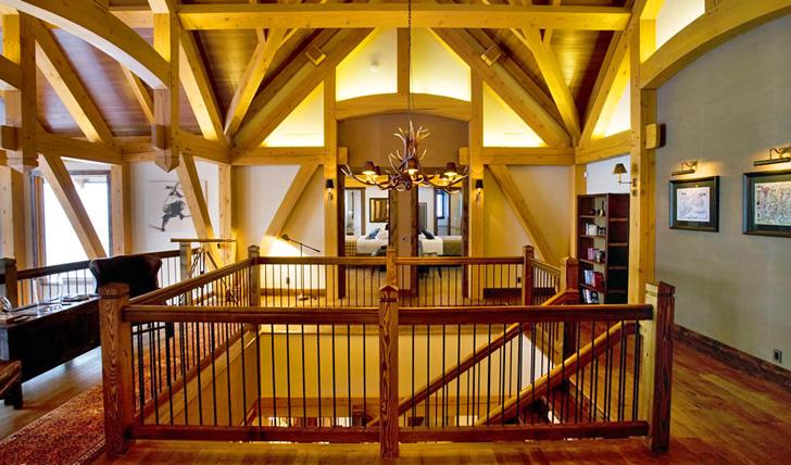 The stylish interior