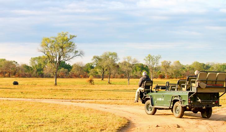 Your tracker vehicle at Sabi Sabi