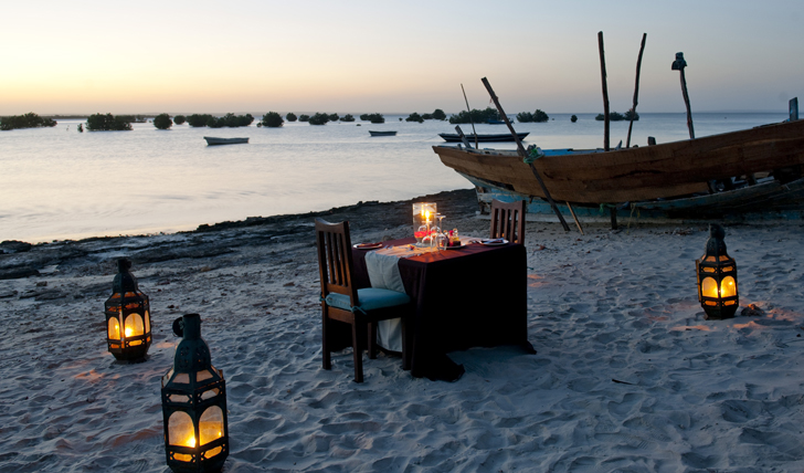 Dinner for Two on Ibo Beach
