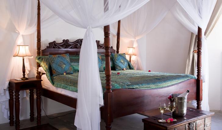 Bedroom Interior at Ibo Island Lodge