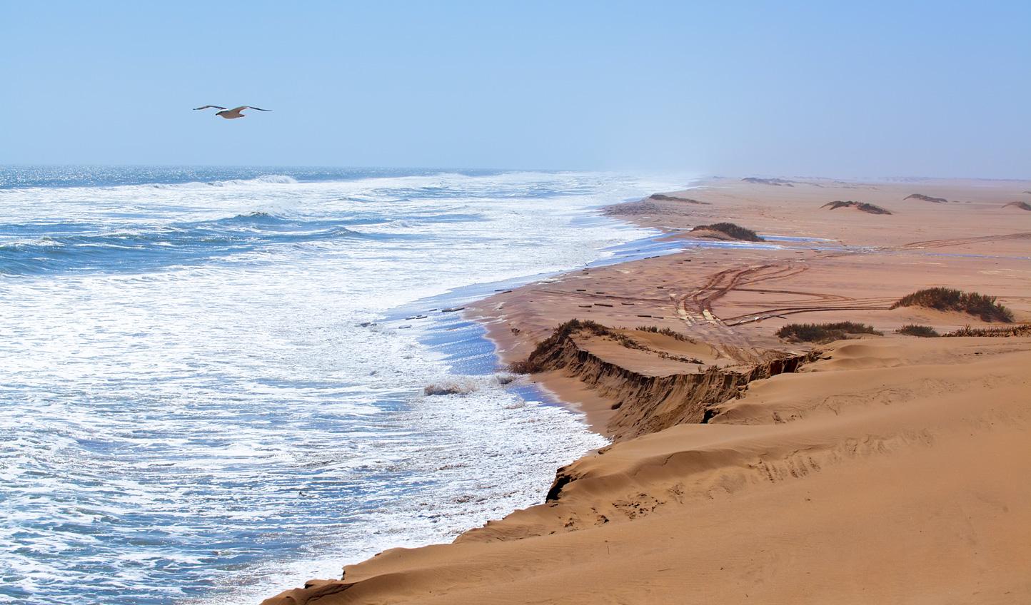 Take in the sand carved coastline