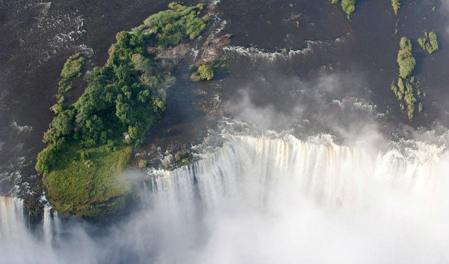 Livingstone Island in Zambia