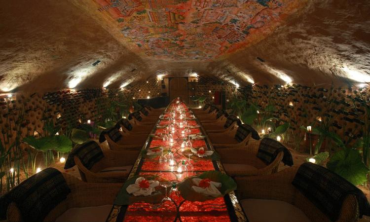 The stylish restaurant