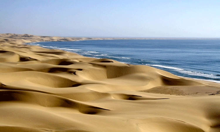 View of sand dunes in Namibia