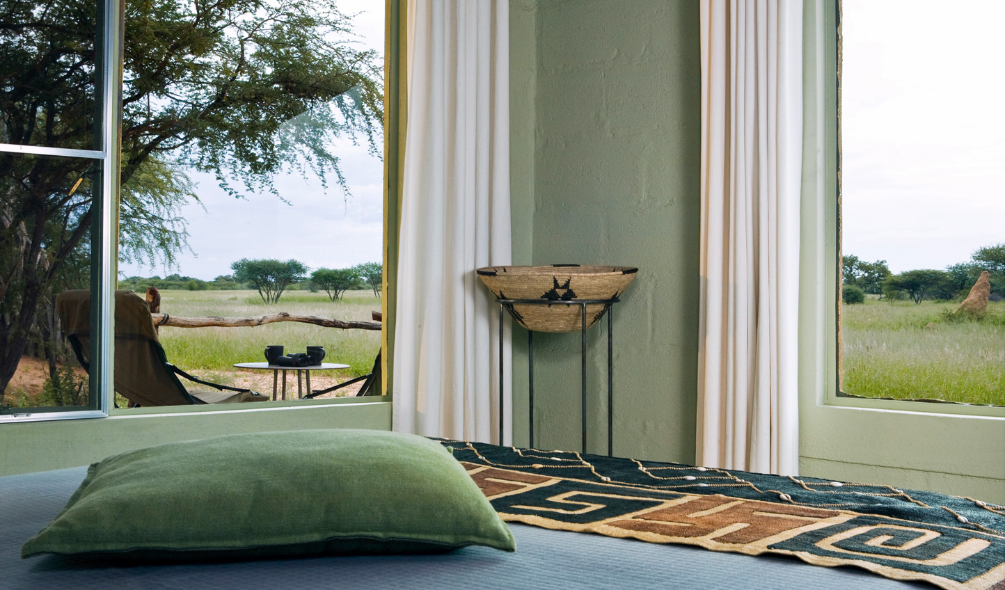 Beautiful safari-chic design complements your surroundings