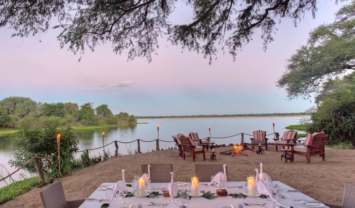 Your setting for dinner on the Lower Zambezi