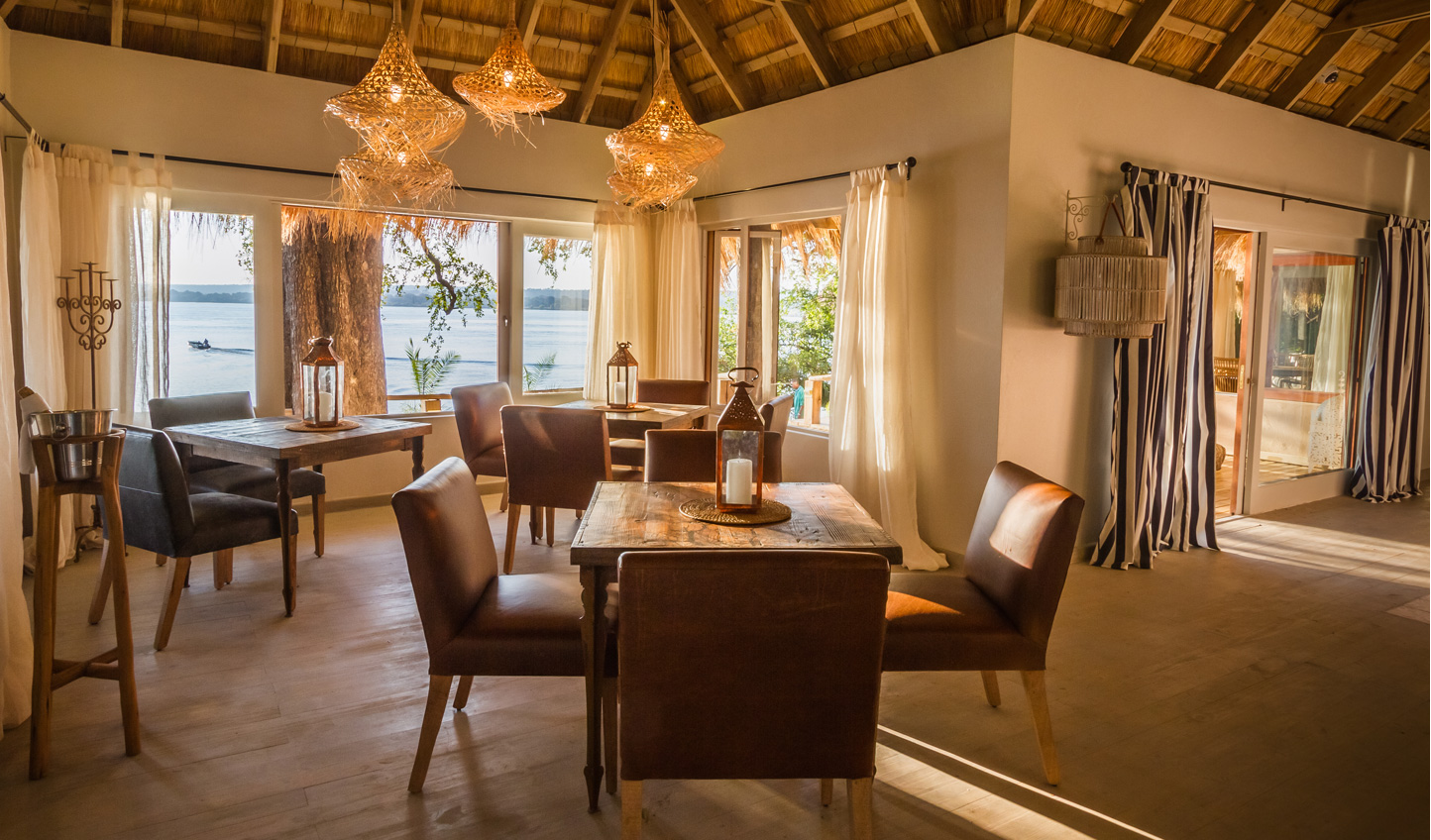 The comfortable dining room