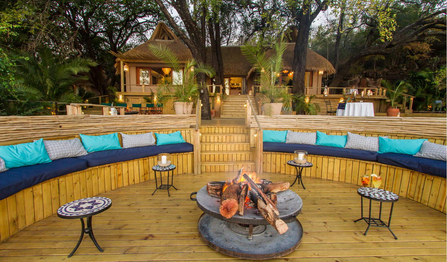 Spend an evening warming yourself up by the firepit