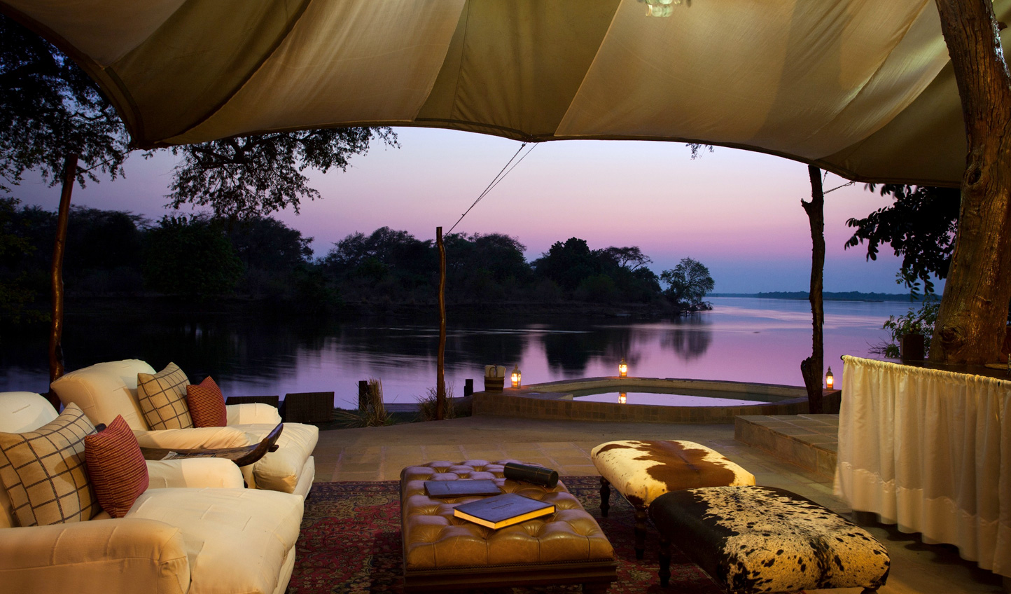 See incredible Zambian sunsets over the river