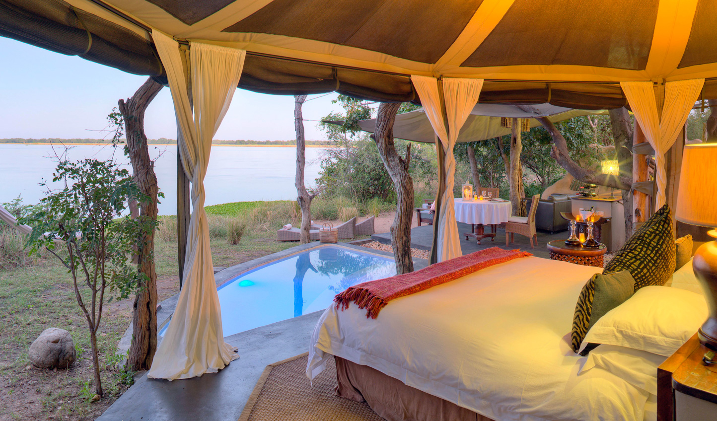 A room that immerses you in the Zambezi