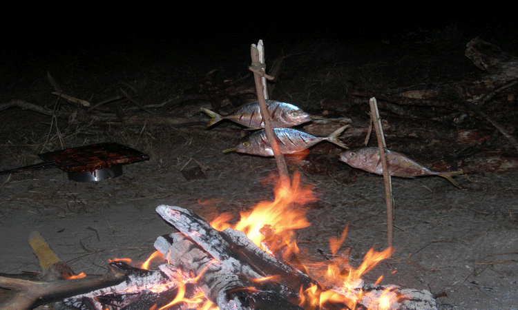Image of cooking over a camp fire