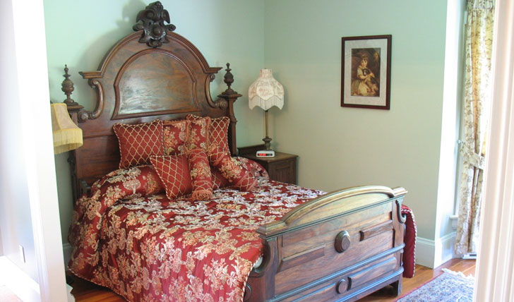 Sink into one of the comfy beds at Hillsdale House Inn
