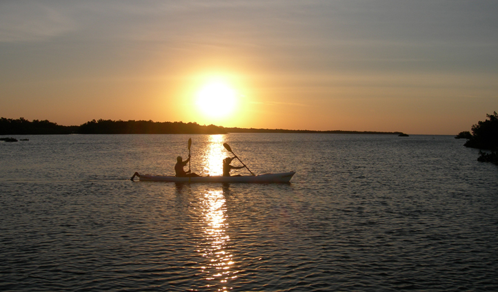 Take a sunset guided kayaking tour