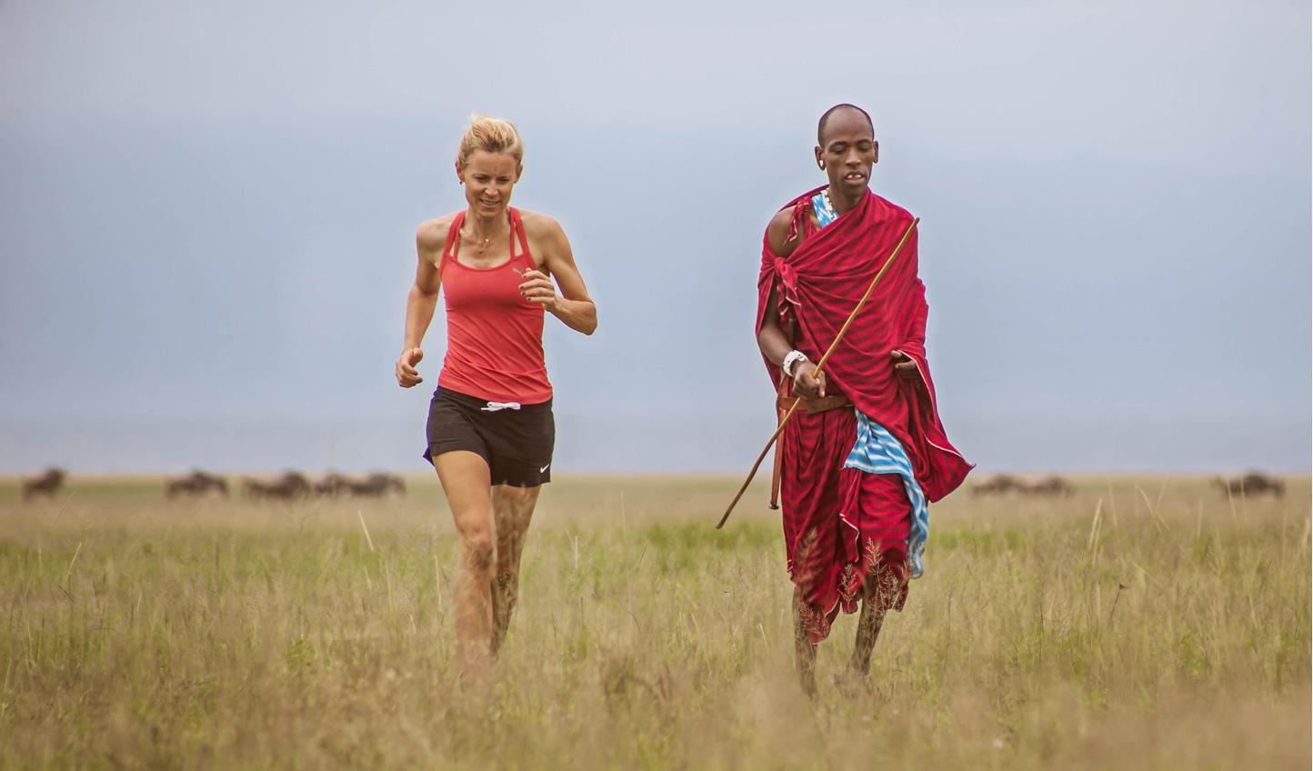 Run with the Maasai warriors
