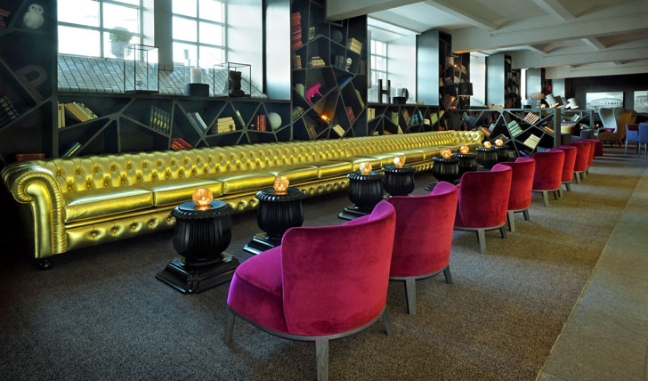 Admire the cutting edge design at the Clarion Hotel