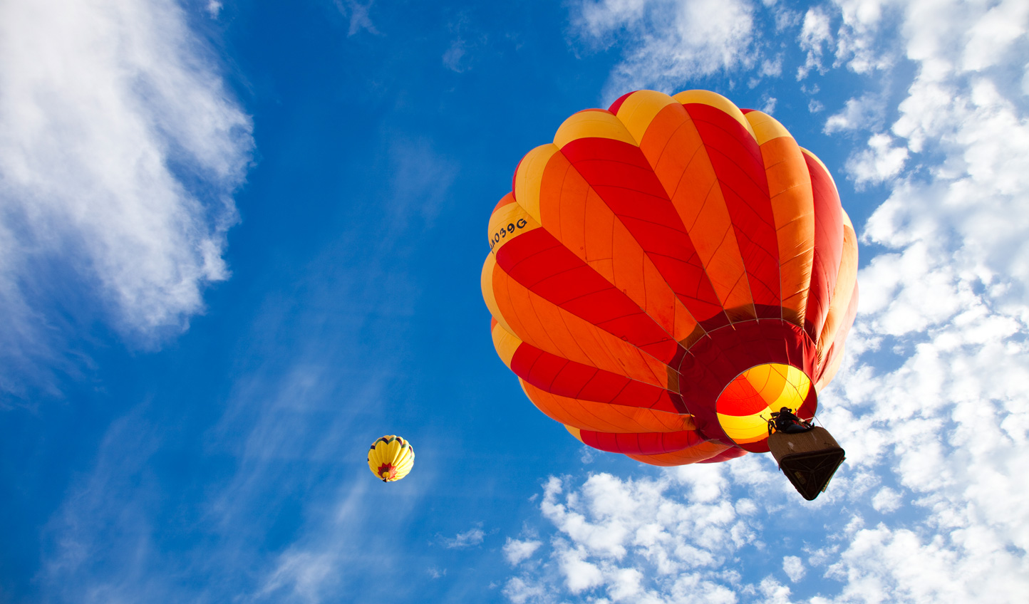 Take a spectacular hot air balloon ride over the city