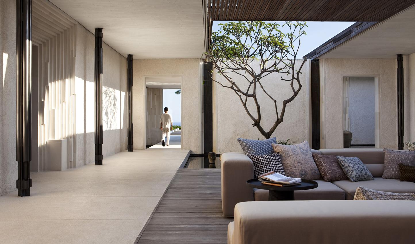 Cool, calm tones of your villa