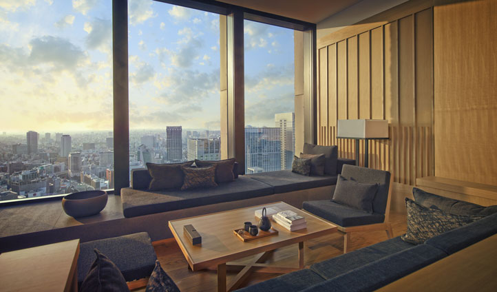 Your room at the Aman Tokyo